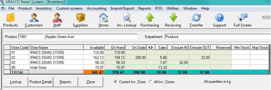 Aralco POS Inventory Lookup