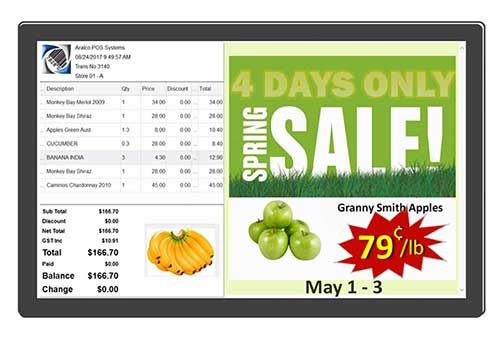 Aralco Customer Display Screen